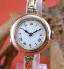 Tolle Damen Taschenuhr mit Armband in 375 Gelbgold