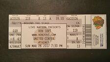 Bon Jovi Ticket 3/26/2017  Chicago United Center WHILE SUPPLIES LAST!