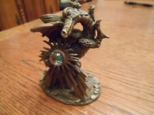 Vintage Roger Gibbons Pewter #3085 The Dragon Of Light - With Crystal 1605
