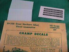 "Champ Decals Ho #Eh-200 Great Northern ""Big Sky� Diesel (complete set)"