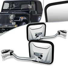Fit 60-75 Jeep CJ6 CJ3 CJ5 Pair Manual Side View Door Mirror CH1320147 CH1321147