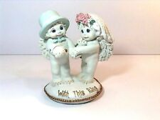 """Vtg=2000-=Dreamsicle Figurine=Bride &Groom-Exchange Rings & Vows""""With This Ring"""""""