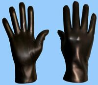 NEW MENS size 8.5 or Medium UNLINED BLACK LAMBSKIN FINE LEATHER GLOVES