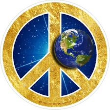 "1 - 4"" World Peace Sign Globe Earth Decal Sticker Auto Car Window Laptop 2113"