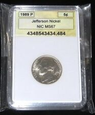 1989-P Jefferson Nickel Slabbed Coin ` NICE!