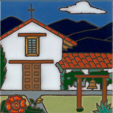 Handpainted Ceramic Tile Sonoma Mission/painting/backsplash/installation