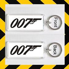 JAMES BOND 007 Porte clé NOIR SUR BLANC
