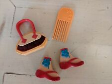 Barbie My Scene & other doll Shoes Flip Flops Sandals & Purse Set lot #6