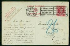 Belgium 1925 Brussels to Vichy France Post Card Wwh86457