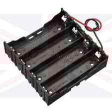 Nuevo plástico de la batería de almacenamiento de 4 ranuras para Funda Serial Caja Soporte Para 4 X 18650 conduce del Reino Unido
