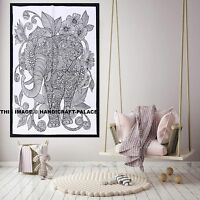 Indian Wall Hanging Tapestry Elephant Mandala Poster Flag Ethnic Cotton Throw