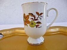 Royal Domino Collection 'Autumn Song' Pedestal Mug Porcelain China 8 oz.; Gold