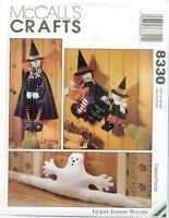 McCalls 8330 Crafts Halloween Witch Ghost Sewing Pattern Beretta UNCUT FF NEW