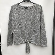 Dororthy Perkins Womens Grey Long Sleeved Top Size 18