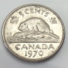 1970 Canada 5 Five Cents Canadian Nickel Circulated Coin E818