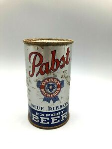 Vintage-Old PABST Export Beer 12oz Flat Top Beer Can Pabst at Milwaukee OI/IRTP