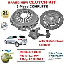 FOR RENAULT CLIO Mk IV 1.2 16V 73bhp 2012-2015 BRAND NEW 3PC CLUTCH KIT with CSC
