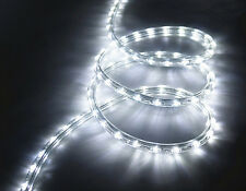 10m Corde 240V LED Lumière Kit Duralight Cool Blanc Étanche Jardin Clôture hangar