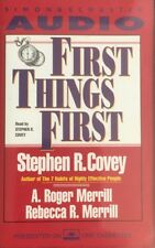 Stephen Covey - First Things First - Audiobook Cassette (C176)