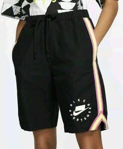 Nike Sportswear NSP Canvas Shorts Women's Size Small AR3010-010 Black