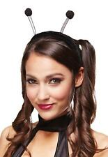 BLACK ANTENNA HEADBAND WITH POM POMS WIGGLY WORM BUGS INSECTS COSTUME MR158040