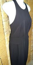 ASOS BNWT Ladies Black Draped Back Sleeveless Dress Size 10