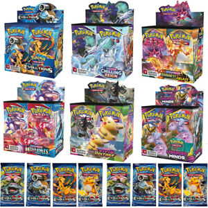 360 Stück Pokémon Karte GX TCG Sammelkarten Booster Box EVOLUTIONS Geschenk Neu
