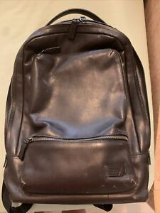 TUMI BATES LEATHER Brown BACKPACK USED