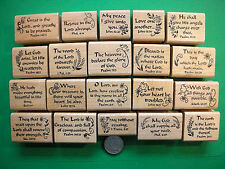 20 Scripture Stamps, Wood Mounted, Set #2