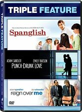 PUNCH-DRUNK LOVE / REIGN OVER ME / SPANGLISH DVD ADAM SANDLE TRIPLE REGION 1