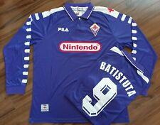 FIORENTINA 98 99 'BATISTUTA 9' Classic Retro Football Shirt - EXTRA LARGE *READ*