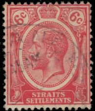"STRAITS SETTLEMENTS 189a (SG228) - King George V ""1925 Rose Red"" (pf11354)"