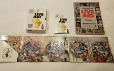 LIVE AID 4 DVD BOXSET 13/07/1985 & LIVE AID BOOK QUEEN McCARTNEY BOWIE