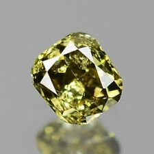 0.11 Carat NATURAL Sparkly Greenish YELLOW DIAMOND LOOSE for Setting Cushion Cut