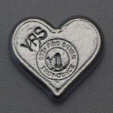 999 YPS Silberbarren 1 oz Unze Silber Herz Love Valentingstag Geschenk SELTEN