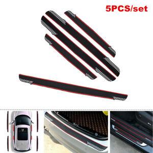 5PCS/set Auto Trunk Sticker Car Door Pedal Protecter Guards Anti-Scratch Strips