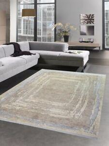 Alfombra de lana Alfombra diseño abstracta hecha fibras naturales beige gris