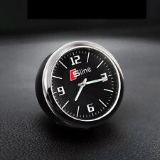 S Line Sline Black Vehicle Car Auto Dash Quartz Clock Interior Styling For All