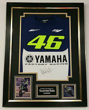 *** NEW Rare VALENTINO ROSSI Signed SHIRT Autograph Display ***