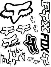 "Fox Racing Vinyl Decal Sticker 9.5"" x 12.5"" Sheet Assorted: Cars-Atvs-Mx Racing"