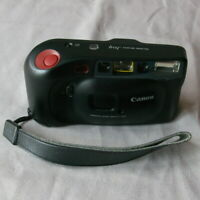 Canon Sure Shot Joy Camera 35mm Black Strap Point And Shoot Untested