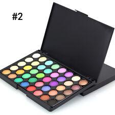 Pro 40 цветов макияж палитра теней тени подчеркнуть переливаются с глаз щетка