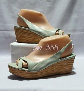 MIU MIU Slingback Wedge Shoes Size 37 1/2