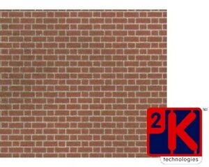 PN900 Metcalfe - N Scale Red Brick 8 x Card Sheets - 2nd Class Postage