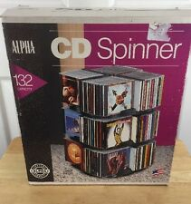 Alpha CD Spinner 132 Capacity Cd Lazy Susan Holder New In Box Made In USA 90's