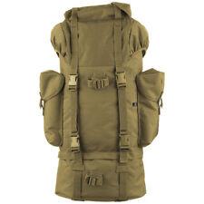 BRANDIT 65L BW TACTICAL MILITARY COMBAT RUCKSACK ARMY PATROL NYLON DAYPACK CAMEL