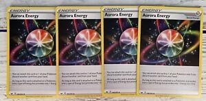 x4 Aurora Energy SWSH01: Sword & Shield Base Set 186/202 / Uncommon NM