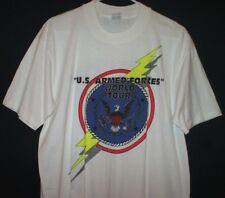 Vintage 1991 U.S. Armed Forces World Tour T Shirt Size L Coming Soon Military