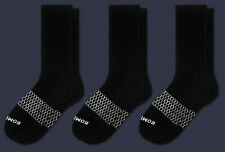 3-Pack Bombas Men's Ankle Calf Black Honeycomb Large 7-12 NWT