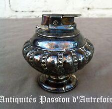 """B20171014 - Briquet de table """" Ronson """" en métal argenté  - Très bon état"""